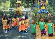 Paket Outbound untuk Anak-anak, Bersawah,Menanam Padi, Menangkap Ikan